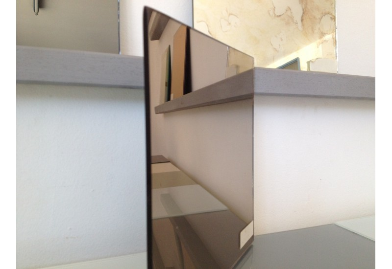 Miroir 6 mm bronze vitre en ligne glass online for Miroir en ligne