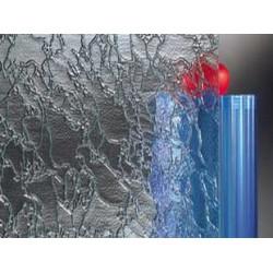 Verre imprimé décoratif  Delta clair MAT 4 mm