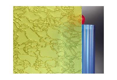 """Verre (4 mm) imprimé """"Delta jaune"""""""