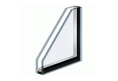 Insulating double glazing with a toughened safety face