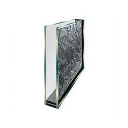 Insulating double glazing with decorative printed side