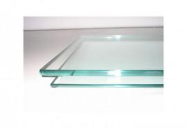 Dessus de table carré en verre trempé