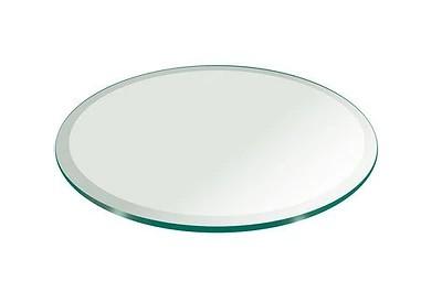Dessus de table rond en verre trempé